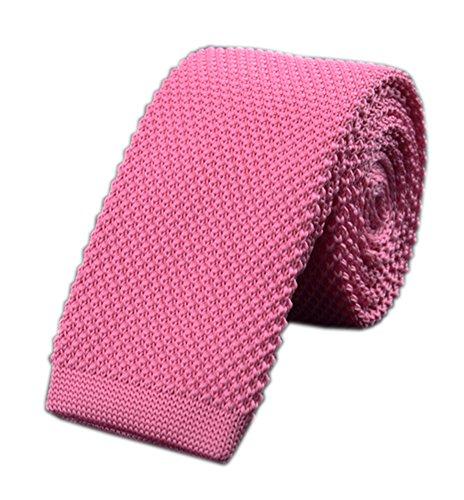 (Mens Knit Coral Pink Ties Blush Modern Basic Designed Groomsmen Wedding Neckties)