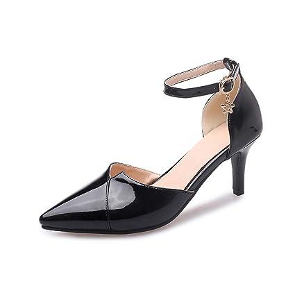 Con De Casual MujerCabeza Punta Zapatos Hebillas Damenschuhe OXZuPki