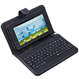 """8650 USB Keyboard & Leather Cover Case Bag for 7"""" Tablet PC MID , USB 2.0"""