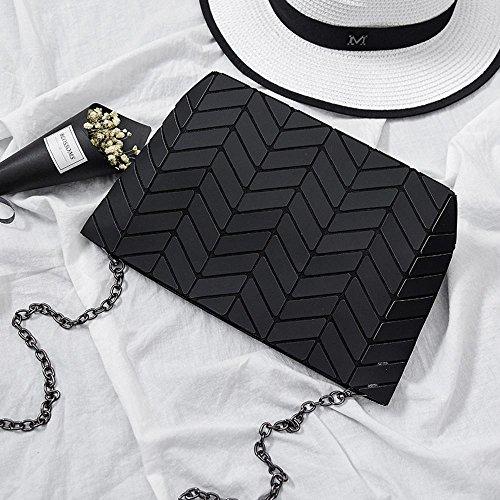 Aoligei 5 * 8 Matt Girl petit sac à bandoulière ondulés style japonais losange à géométrie variable sac C