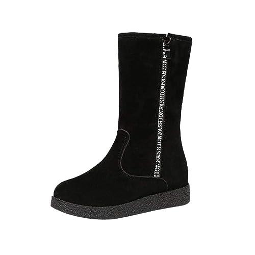 Botines Altos de Invierno para Mujer Otoño 2018 Moda PAOLIAN Botas Militares Terciopelo Plataforma Cuña Zapatos de Señora Calzado Dama Zuecos Botas de Nieve ...