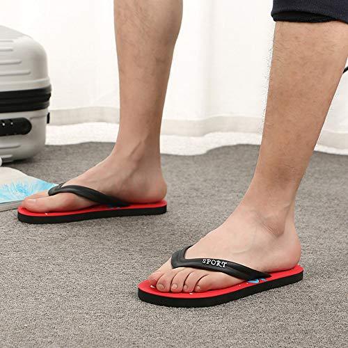 Anti ALIKEEY Zapatos Sandalias De Hombres Moda Pizca Zapatillas Rojo Playa Deslizamiento Sandalias qq14TEr