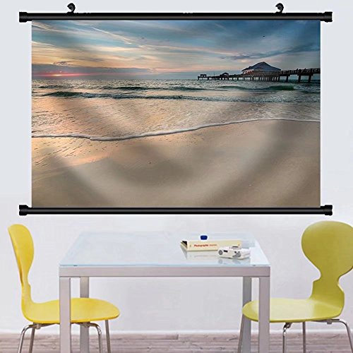 Gzhihine Wall Scroll Sunset near Pier 60 on a Clearwater Beach Florida USA Fabric Wall Home Decor - The On Map Broadway Beach