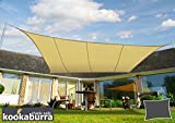 Kookaburra Waterproof Sun Sail Shade - Sand - 16ft 5'' X 13ft 1'' Rectangular