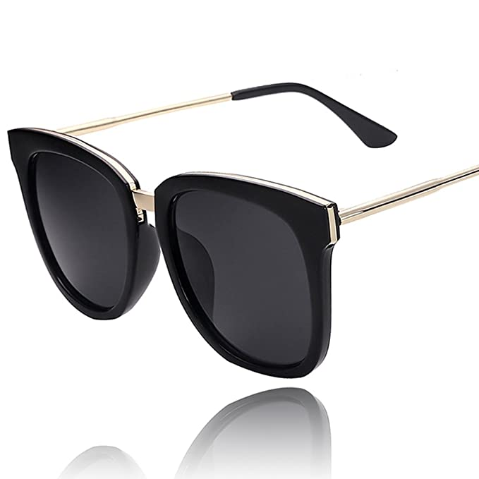 Caja de gafas de sol retro de cara redonda/Gafas de sol ...