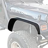Off Road Steel Flat Front & Rear Fender Flares Guard for 1997-2006 Jeep Wrangler TJ Wrangler Unlimited - Set