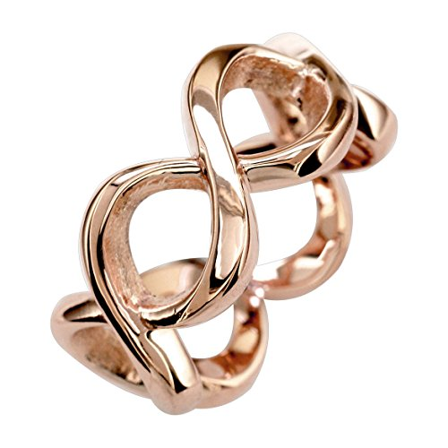 Double Infinity Knot Ring in 18k Rose Gold - size 7 by Sziro Infinity Rings