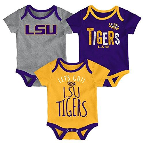 (Gen 2 NCAA LSU Tigers Newborn & Infant Little Tailgater Bodysuit, 12 Months, Regal)
