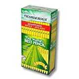 Ticonderoga Pre-Sharpened #2 Pencil with Eraser, Pack of 72