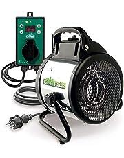 Bio Green Elektrisk fläktvärmare Palma, 2000 watt, digital termostat, IP X4 stänkvattenskyddad för växthus