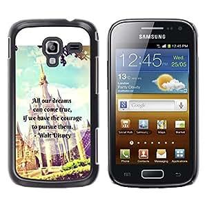 LECELL--Funda protectora / Cubierta / Piel For Samsung Galaxy Ace 2 I8160 Ace II X S7560M -- Fairytale Fantasy Kids Children'S Text --