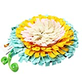 IFOYO Pet Snuffle Mat, Dog Feeding Mat Small Dog Training Pad Pet Nose Work Blanket Non Slip Pet Activity Mat for Foraging Skill, Stress Release, (E Flower, Diameter: 17.7in / 45cm) Review