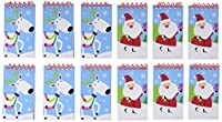 "Festive Christmas Jolly Saint Nick Notepad Party Favour, Paper, 4"" x 2"", Pack of 12"