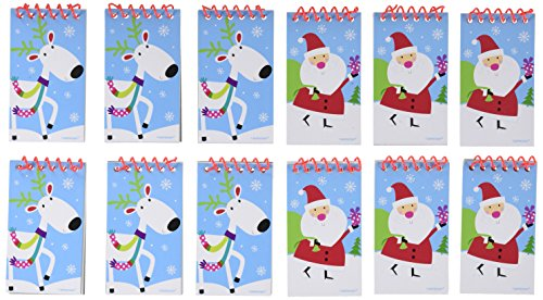 Christmas Notepad (Festive Christmas Jolly Saint Nick Notepad Party Favour, Paper, 4