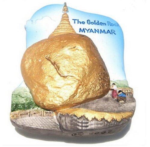 Golden Rock Kyaikhtiyo pagoda Myanmar 3d resina de alta calidad 3d ...