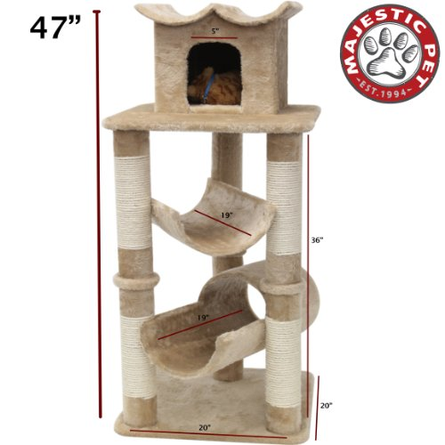 "Majestic Pet 47"" Casita Cat Tree, Beige"