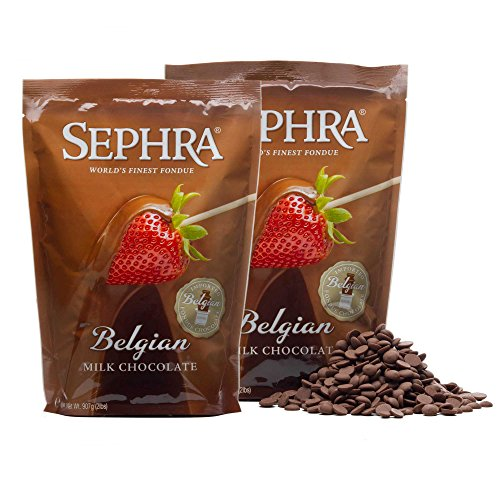 Sephra Belgian Milk Chocolate Fondue Chocolate Belgium, Kosher Dairy, Gluten and Trans Fat Free Belgian Chocolate for Chocolate Fountains, Belgian Chocolate Fondue, Chocolate Chips for Baking (4 LBS)