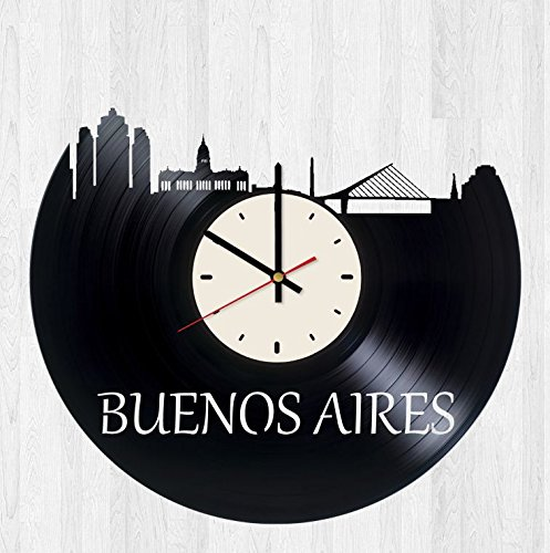 Skyline Buenos Aires Vinyl Wall Clock Skyline Unique Gifts Living Room Home Decor (Best Of Buenos Aires)