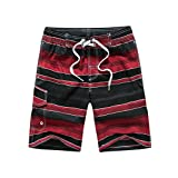 Aivtalk Men's Surfing Board Shorts Strip Casual Sports Beach Swimming Trunks¡­