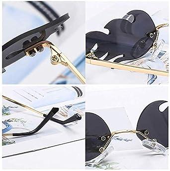 Stile punk vintage di moda Occhiali da sole Donna Uomo Occhiali da sole senza montatura Wave Occhiali da sole Creative Flame