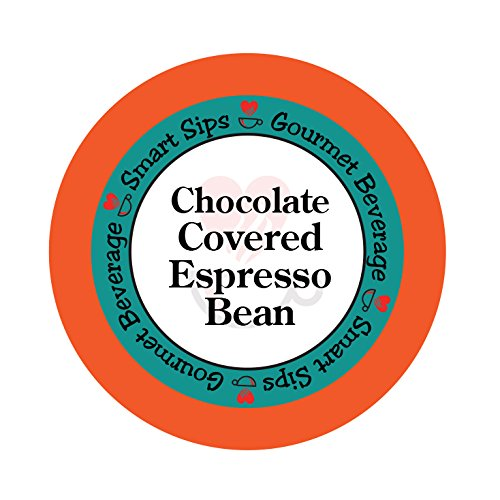 Chocolate Covered Espresso Bean Flavored Coffee, 24 Count Espresso Single Serve Cups, Compatible With All Keurig K-cup Brewers