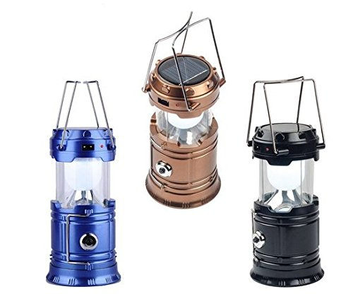 ONBN XF 5800T 6 + 1 LED USB Mobile Charging 2 Power Source Solar Plastic Emergency Light Lantern