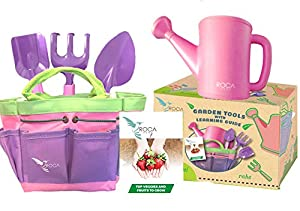High Quality Pink Gardening Tools For Kids With STEM Early Learning Guide By ROCA Home.  Christmas Garden Toys, Outdoor Toys And Learning Toys. Cute Pink And Purple  ...