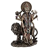 11-inch Durga Hindu Divine Mother Goddess Real Bronze Powder Cast Statue Figurine