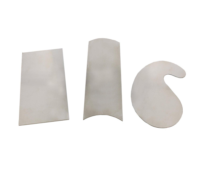 DCT Carbon Steel Scraper 3-Piece Set – Rectangular, Concave Convex, Gooseneck Curved Wood Cabinet Woodworking Scrapers