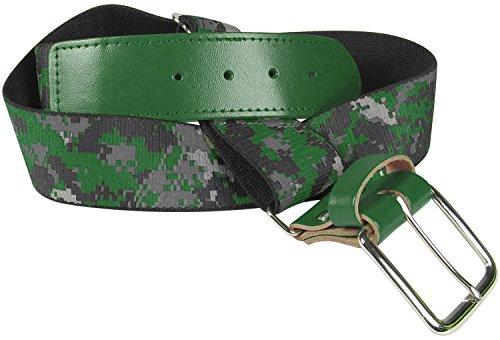 TCK Sports Digital Camo Elastic Adjustable Baseball/Softball Belt (Dark Green, Adult) Adult Adjustable Elastic Belts