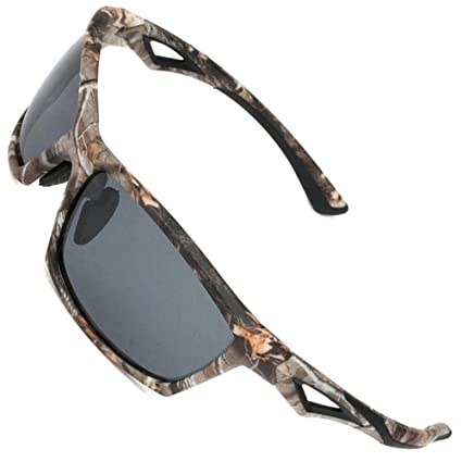26763747ee2 MOTELAN Polarized Outdoor Sports Sunglasses Tr90 Camo Frame for Driving  Fishing Hunting Reduce Glare Grey