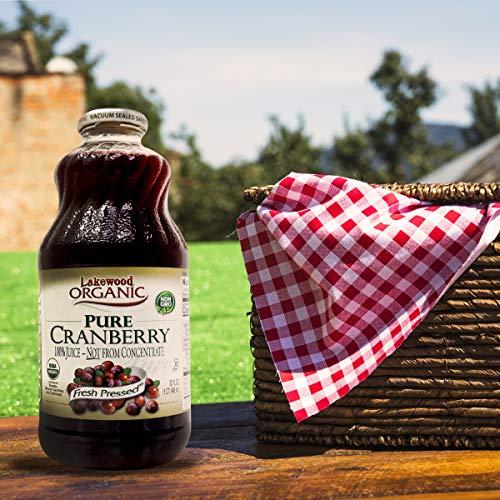 Lakewood Organic Pure Cranberry Juice, 32 Ounce Bottle (Fruit Juice Pack of 6) by Lakewood (Image #4)