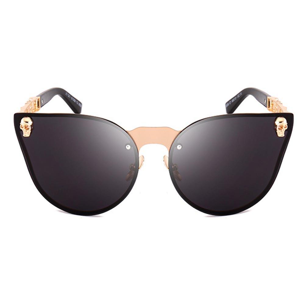 WEIMEITE Rock Hip Hop Metall Sonnenbrille Damen Herren Skull Frame Gothic Sonnenbrille UV400