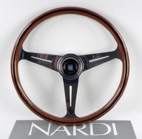 (Nardi Steering Wheel - Classic - 390 mm (15.35 inches) - Wood with Polished Spokes - Part # 5061.39.3000)