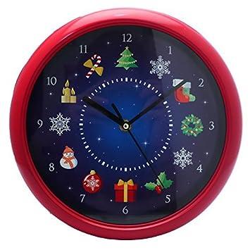 Tik Tock Novelty Musical Christmas Wall Clock: Amazon.co.uk ...