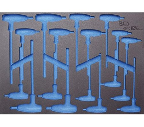 für T-Griff-Schlüss leer BGS 4010-20 3//3 Werkstattwageneinlage 408x567x32 mm
