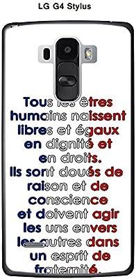 Onozo Carcasa LG G4 Stylus Design citación Todos los Etres ...