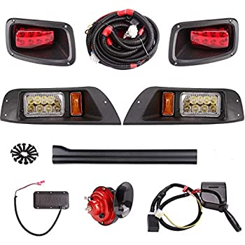 Image of 10L0L Golf Cart LED Light 9-pin Plug with Deluxe Upgrade Kit Fits EZGO 1996-2013 TXT (Must Input 12 Volts) Golf Cart Accessories