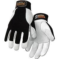 Steiner Ironflex Work Gloves, Advantage, Grain Goatskin, Black Spandex