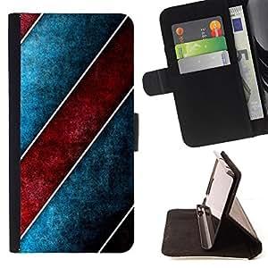 Jordan Colourful Shop - stripes design wall art red blue wallpaper For LG Nexus 5 D820 D821 - < Leather Case Absorci????n cubierta de la caja de alto impacto > -