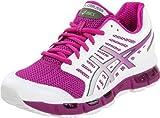 ASICS Women's GEL-Cirrus33 Running Shoe,White/Electric Violet/Lime,5.5 M US
