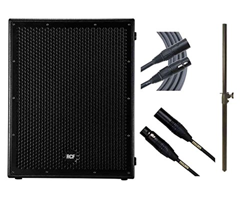 RCF Sub 8004-AS + Subwoofer Pole + Mogami Cables by RCF