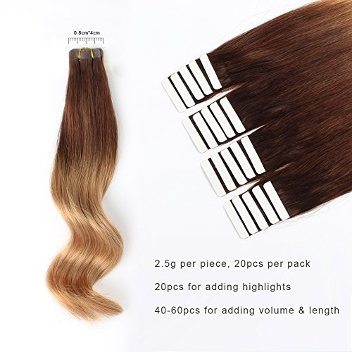 Amazingbeauty pre taped 50g20pcs pre taped highlights and ombre human hair extensions pmusecretfo Image collections