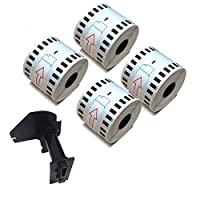 NEXTPAGE® 4 Rolls Brother compatible DK-2205 Continuous Paper Label(2.4in x 100ft)with 1 reusable Cartridge