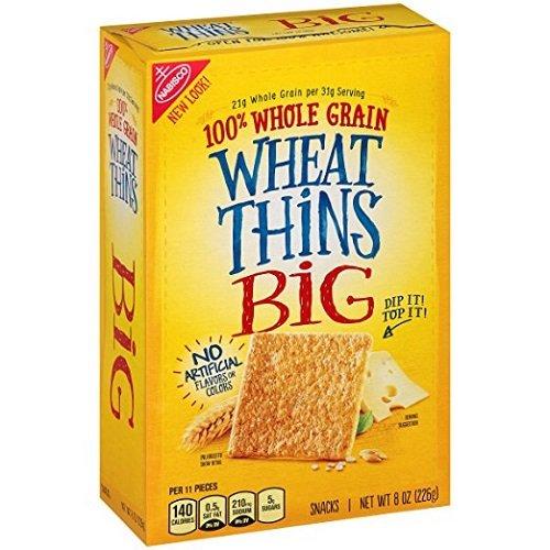Wheat Thins Crackers, Big, 8 Oz (2 pack) by Nabisco