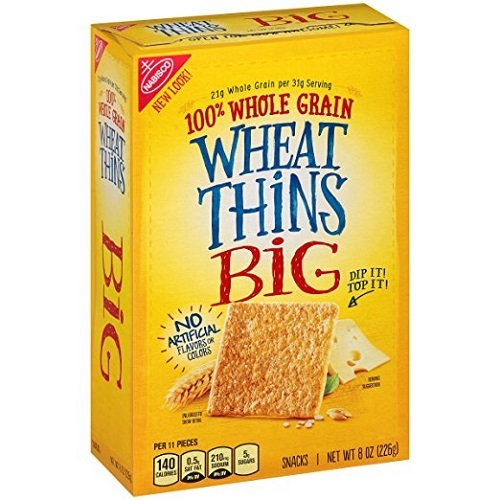 Wheat Thins Crackers, Big, 8 Oz (2 pack)