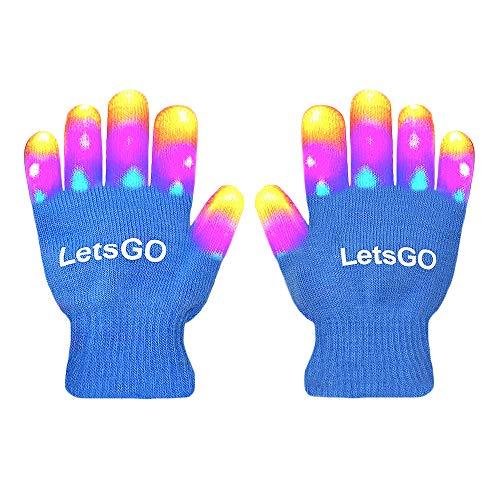 My-My Light Up Gloves, Finger Light Flashing Led Gloves New Toys 2019 Easter Toys 2019 for Girls Boys Fun Toys for 3-10 Year Old Kids Blue MMJSST02