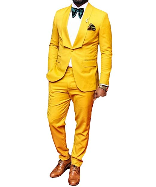 Amazon.com: RONGKIM - Traje de hombre de moda con un botón ...