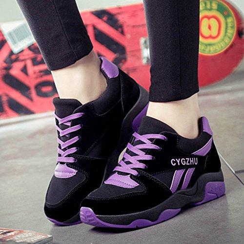 Libre Para Zapatos Asfalto Zapatillas En Aumentar Running Casuales Planos Correr Wealsex Los Deporte Aire Mujer Púrpura Deportes Placa De Montaña 6awqIv