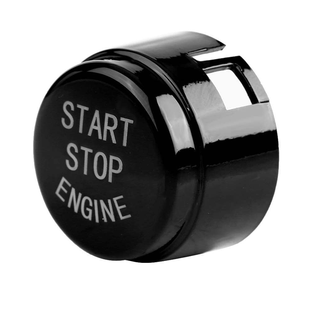 Bot/ón de arranque tapa del bot/ón del interruptor de arranque del motor de coche Keenso